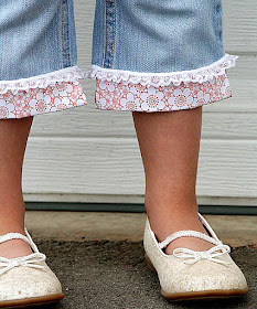 Fabric and Lace Cutoffs