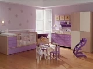 Dormitorios de beb s color lila dormitorios colores y for Pegatinas dormitorio bebe