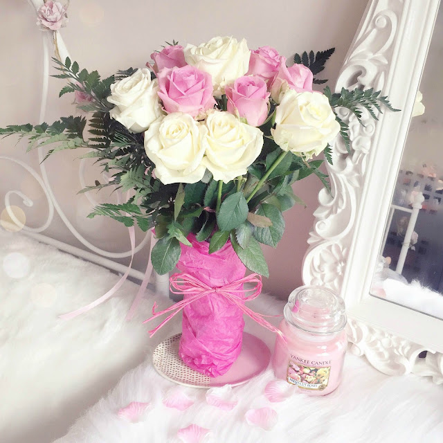 Valentine's Day Pink & Cream Roses