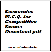 Economics M.C.Q. for Competitive Exams SSC UPSC Download pdf