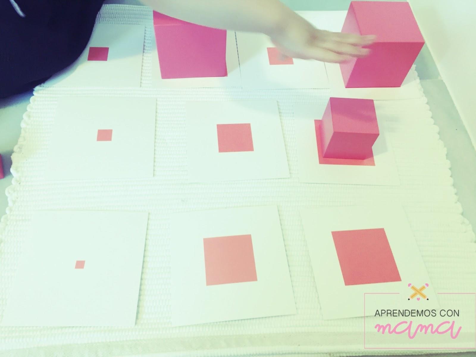 La torre rosa Montessori | Aprendemos con mamá