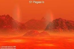 كوكب  51 بيجاسي بي امطاره من الحديد السائل