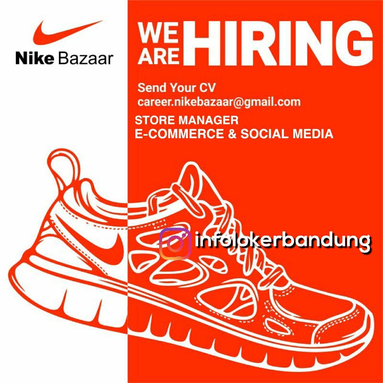 Lowongan Kerja Nike Bazaar Bandung Desember 2017