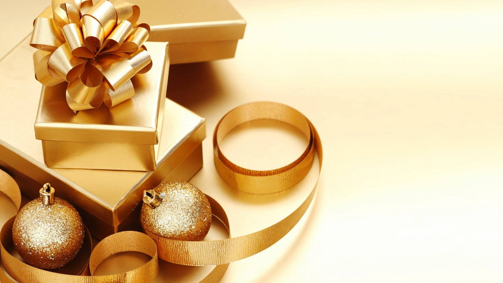 Fondo de pantalla navidad regalos de color oro san for Pc in regalo gratis