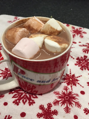 Real Hot Chocolate in a mug with marshmallows