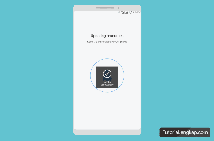 MI Band 3 telah terhubung dengan APlikasi MI fit pada smartphone
