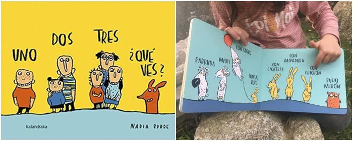 mejores cuentos infantiles de 0 a 3 años Un, dos, tres, ¿qué ves? Kalandraka