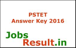 PSTET Answer Key 2016
