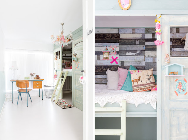 dormitorio infantil con washitape