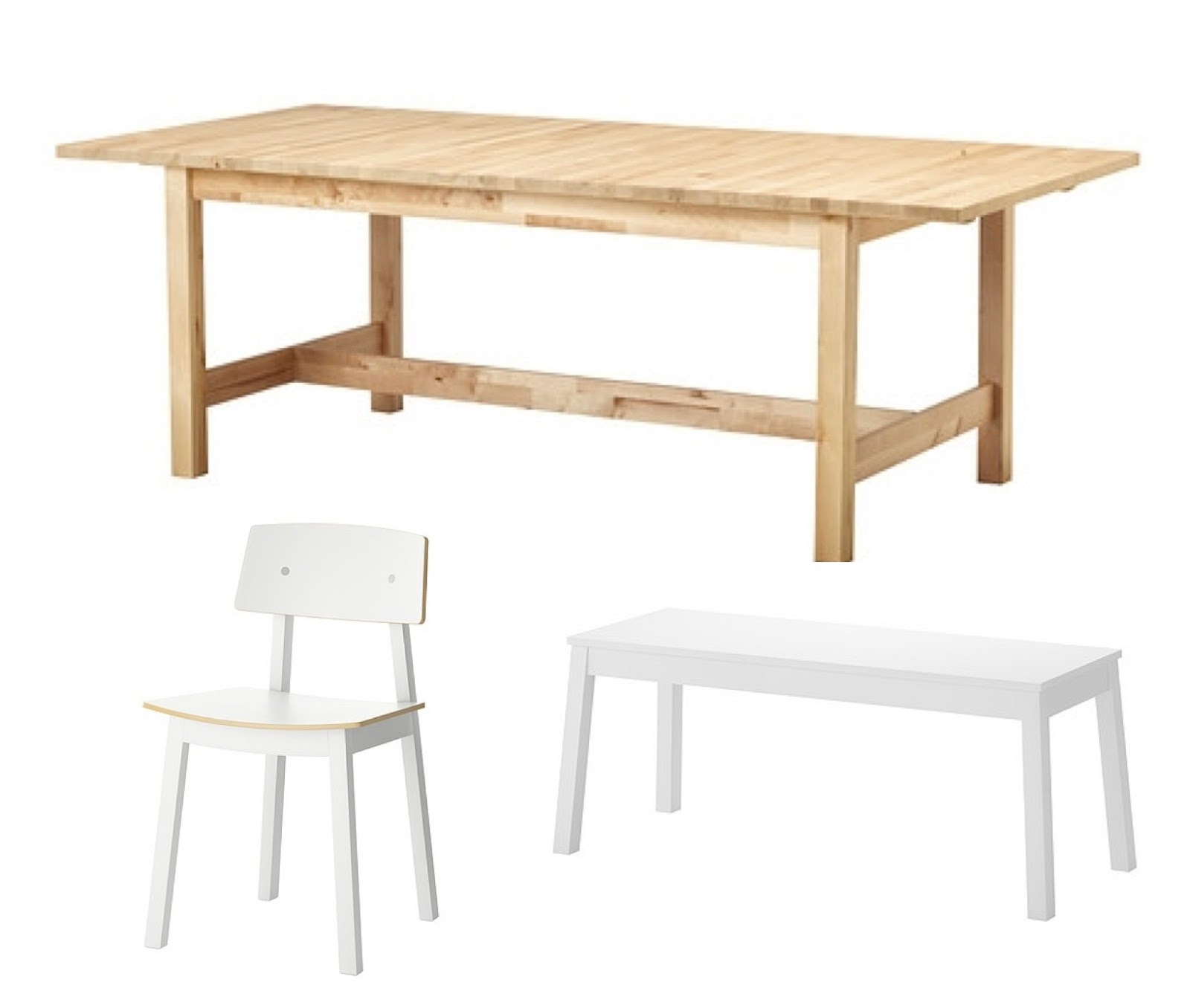 Bench Dining Table Ikea: New Dining Table And Chairs For The Green Wallpaper