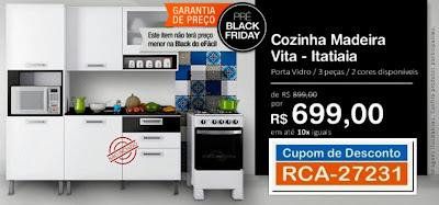 Pré Black Friday Cozinha Madeira Itatiaia