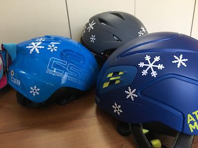 スキー スノーボード用ヘルメット 雪の結晶カッティングステッカー