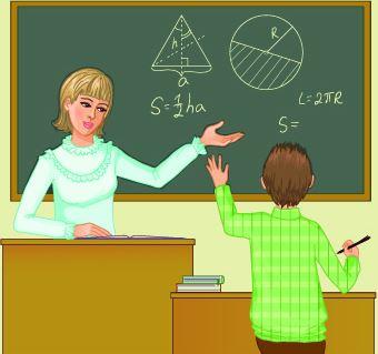profesora explicando lección a estudiante