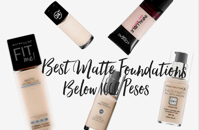 Budget Beauty: 5 Best Matte Foundations under Php 1000