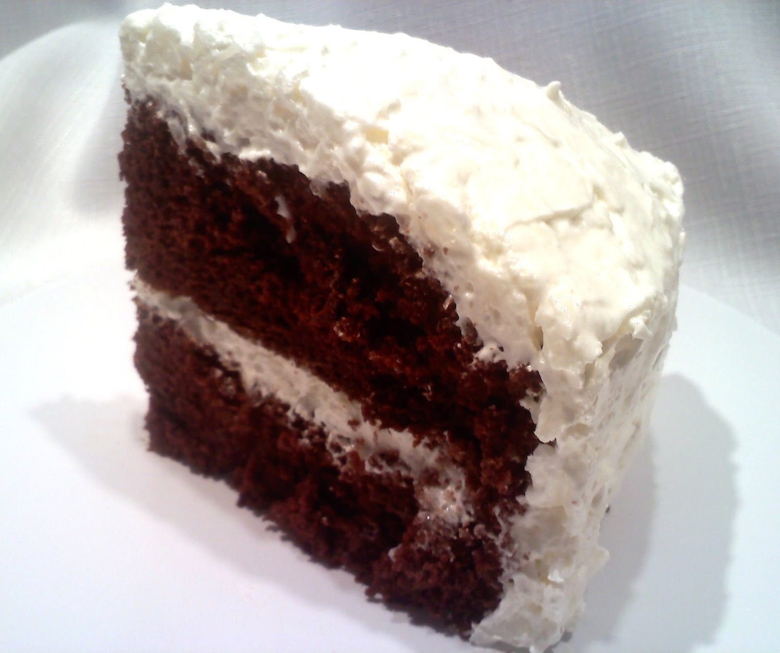Chocolate Cake With Sour Cream Topping