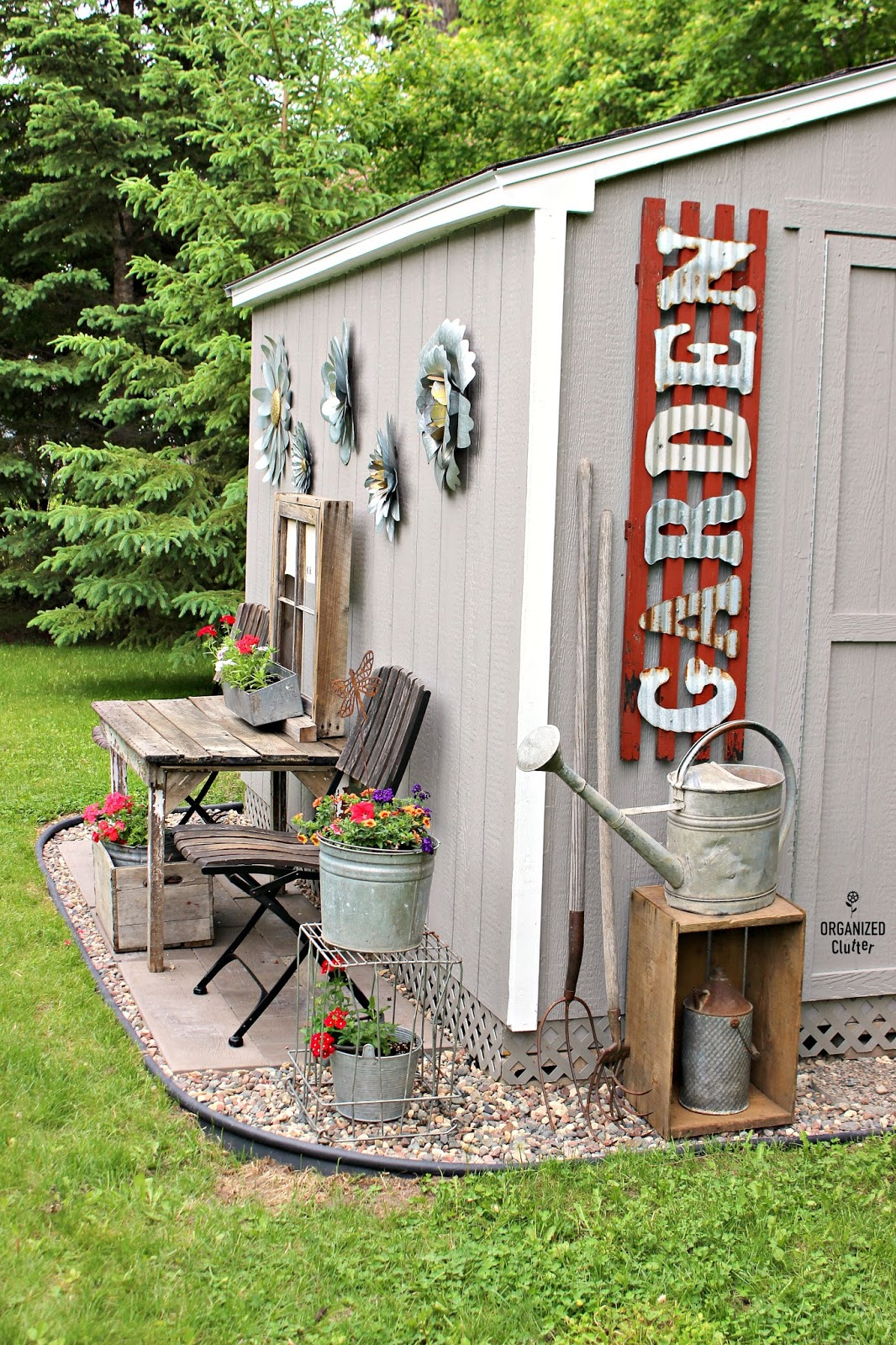 My New Junk Garden Shed Organized Clutter