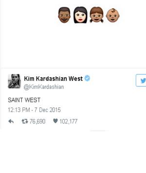 Kim Kardashian Saint West