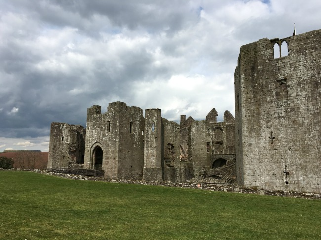 Raglan Castle - Dark Skies approaching