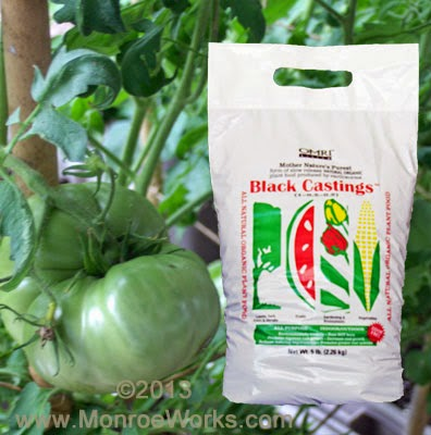 organic worm castings for heirloom tomatoes