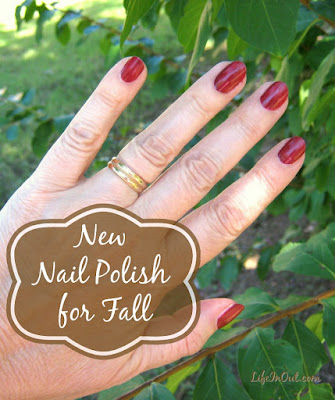 "To celebrate the change of season, I've selected a new nail polish for Fall. It's a dark red shade called ""Haze of Love."" Here's my review."