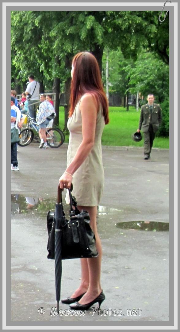 Summer Dress and Black Umbrella