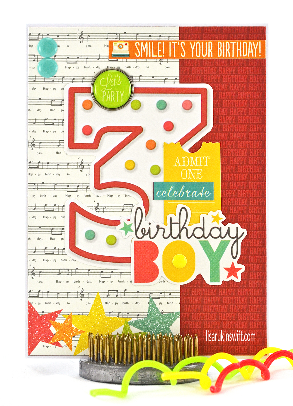 Card Share Celebrate Birthday Boy Simple Stories Lets Party