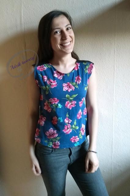 szycie diy bluzka na lato ze starych ubrań - Adzik tworzy
