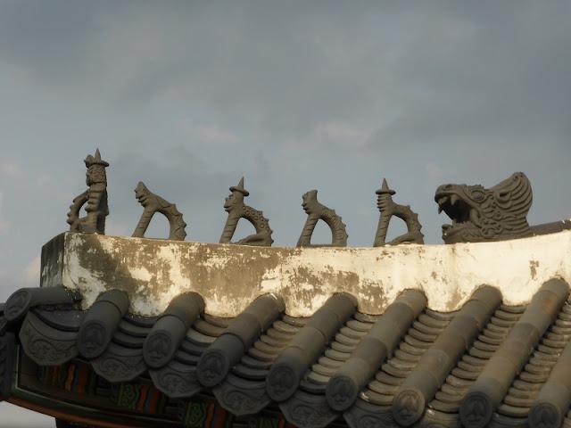 Japsang del tejado del Palacio de Changdeokgung
