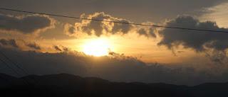 I actually saw a sunrise