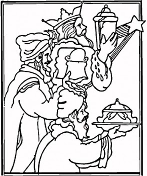 Three Kings Day Coloring Pages Los Tres Reyes Magos