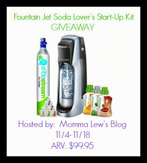 Enter to win a SodaStream Starter Kit. Ends 11/18.