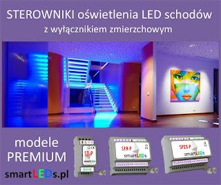 Inteligentne sterowniki schodowe smartlEDs oświetlenia LED schodów - modele PREMIUM