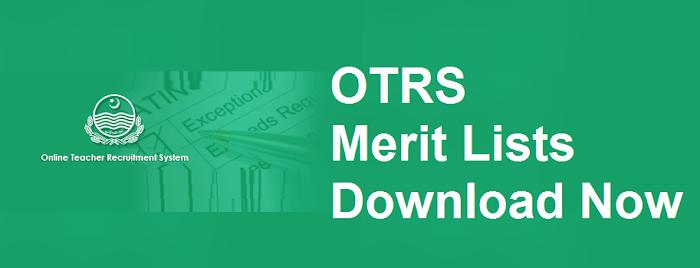 OTRS Merit List Search Tool - AEO, ESE, SESE, SSE - otrs.punjab.gov.pk