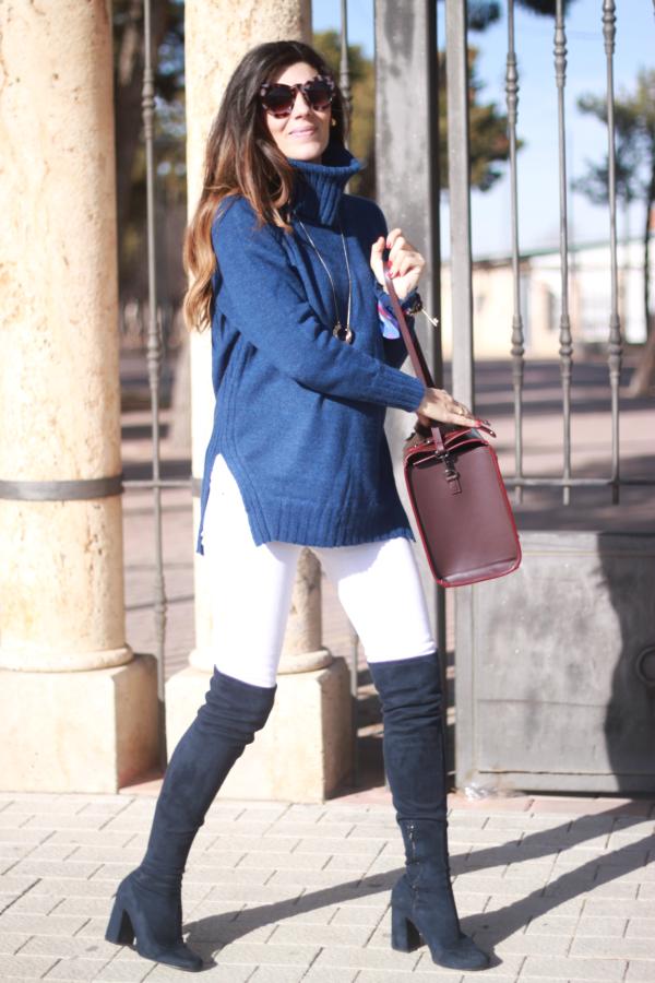 Look informal, bota leggin, chaqueta guateada,
