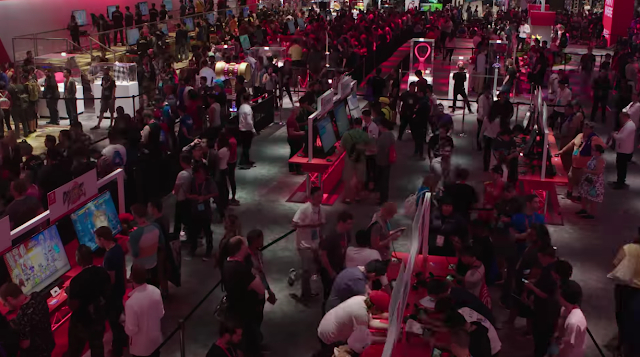 Nintendo E3 2018 booth crowd size line area