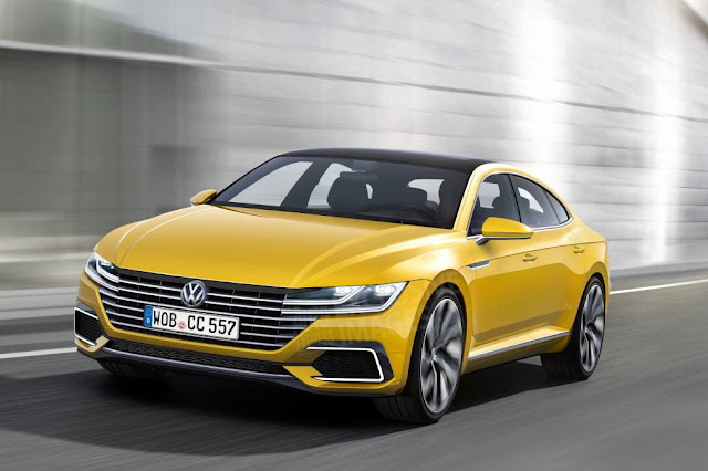 2017 Volkswagen CC coupe spotted new design front view