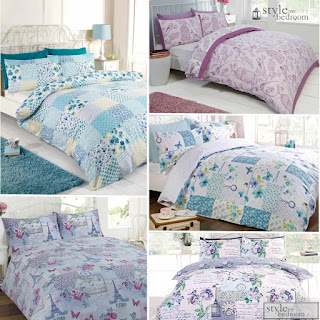 DEALS Floral Patchwork Reversible Shabby Chic Duvet Quilt Cover Bedding Set £12.85