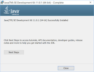 Installing Java jdk on windows 10