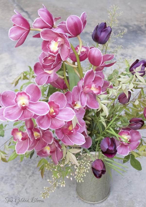 Styling Cymbidium Orchids- www.gildedbloom.com