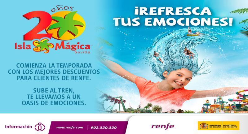 Renfe e isla m gica renuevan el convenio para ofrecer descuentos del 40 en la - Ofertas isla magica 2017 ...