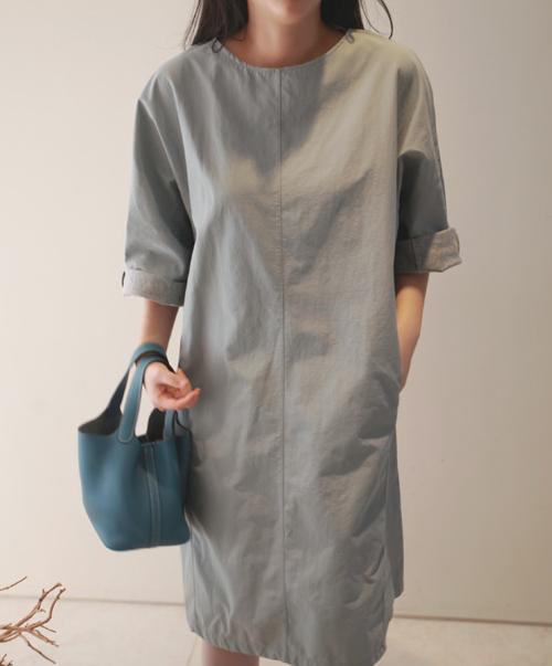 Paneled Midi Dress