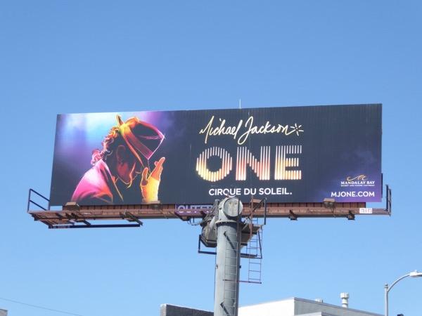 Michael Jackson One Cirque du Soleil billboard