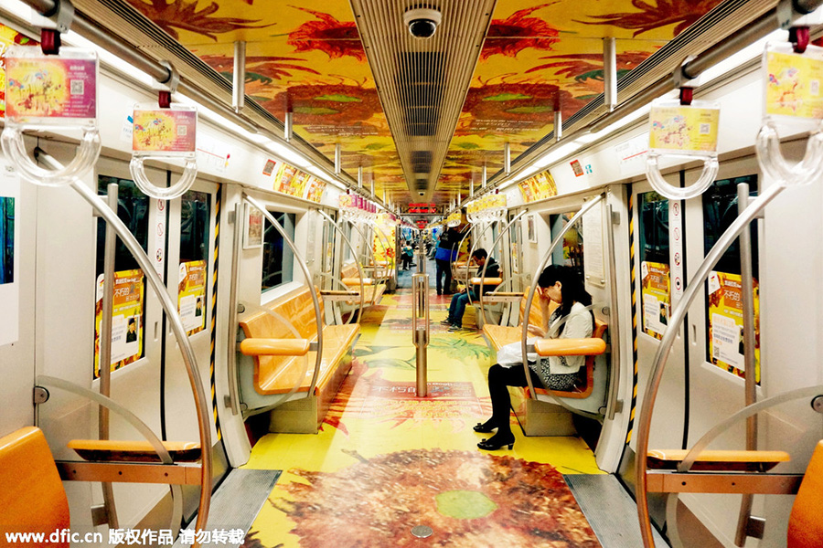Colorful Trains in China