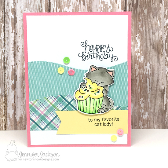 Cat And Cupcake Birthday Card By Jennifer Jackson