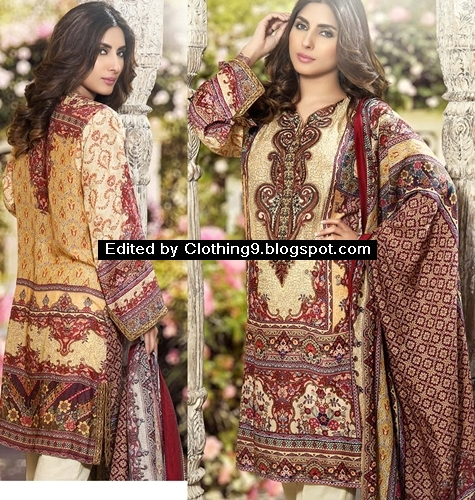 Allure by Motifz Digital Printed Cotton Silk Clothes 2016
