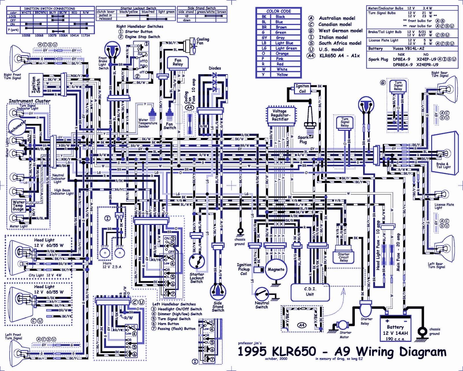 1995 KLR650 Dual Sport Motocross Wiring Diagram | Auto Wiring Diagrams