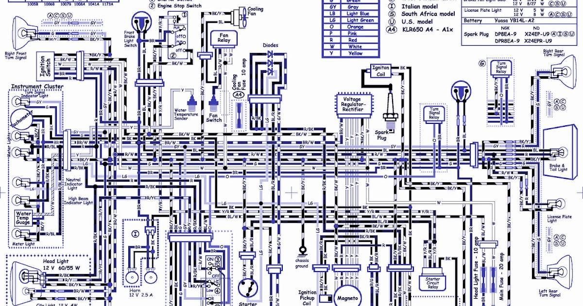 kawasaki klr 650 wiring diagram worksheet and wiring diagram u2022 rh bookinc co 05 Uplander Radio Wiring 2007 kawasaki klr 650 wiring diagram