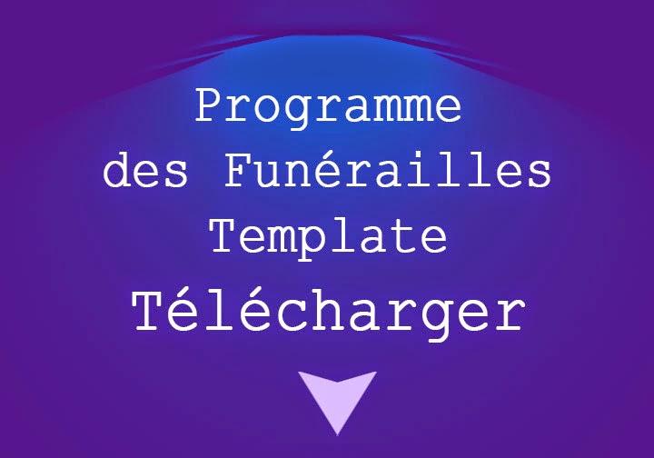 ordre de service modèle de funérailles téléchargement gratuit uk top