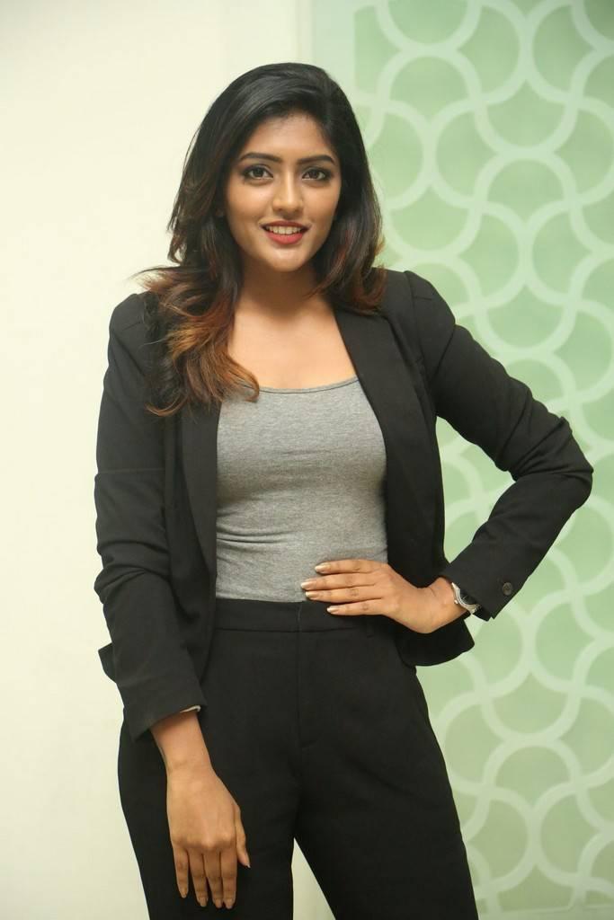 Beautiful Telugu Girl Eesha At Movie Success Meet In Black Shirt Pant