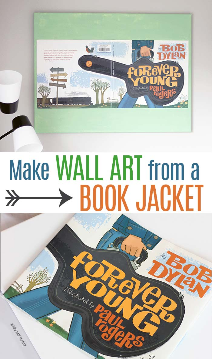 Turn your favorite book covers into wall art with this easy and inexpensive DIY project! Perfect for kids rooms, playrooms, or to give as a gift. Recycle book covers into beautiful home decor! #wallart #walldecor #childrensbooks #DIY #homedecor